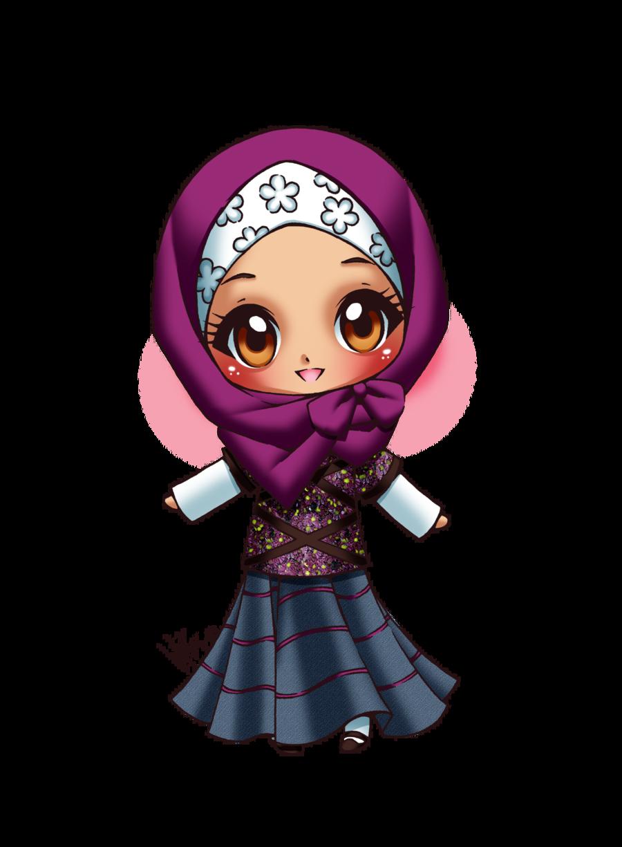 Cute hijabi muslimah muslim. Couple clipart malay