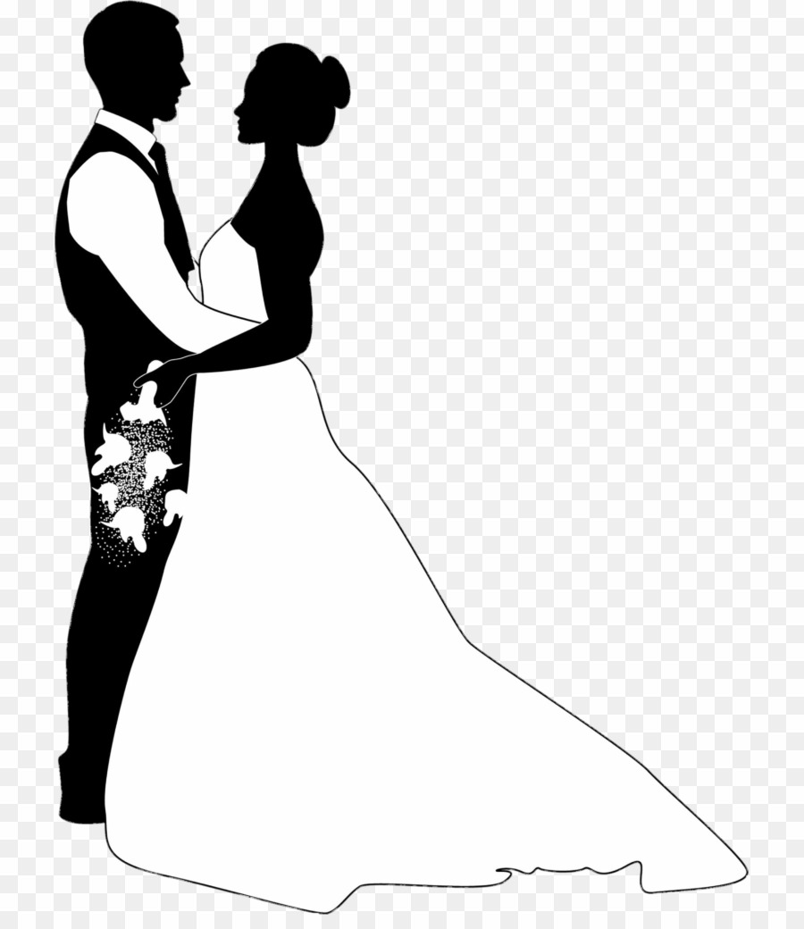 Couple clipart marrige. Married silhouette png wedding