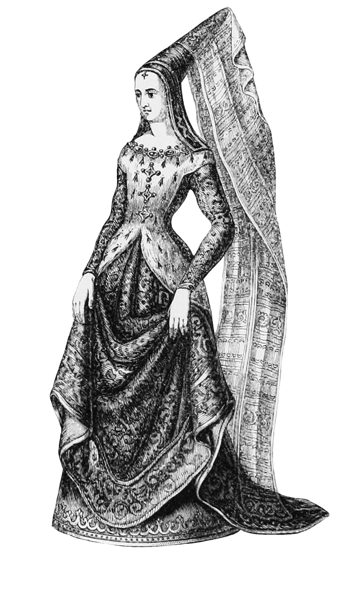 Lady . Queen clipart medieval clothing