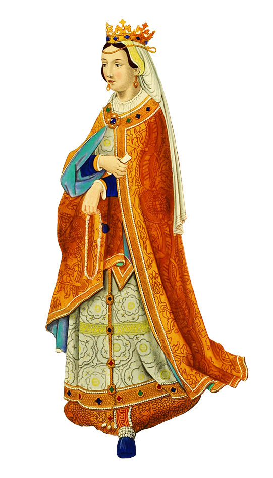Queen clipart clothes. Medieval philippa dressed gentleman