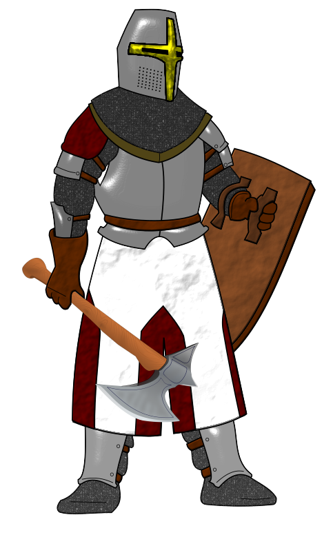 collection of knight. Warrior clipart medieval warrior