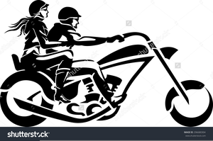 Motorcycle clipart couple. On free images at