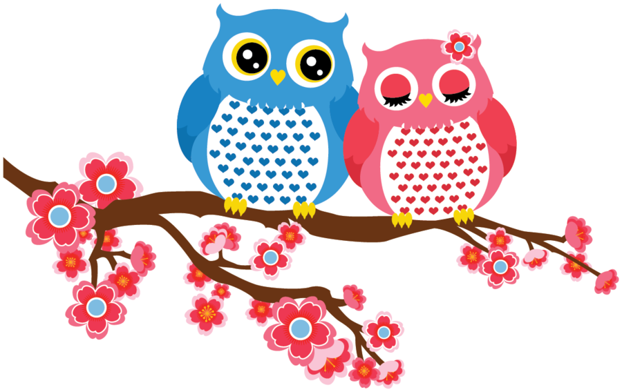 Pin by terri on. Owls clipart couple