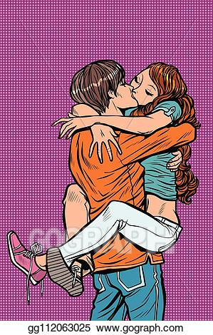 Couple clipart passionate. Vector stock in love