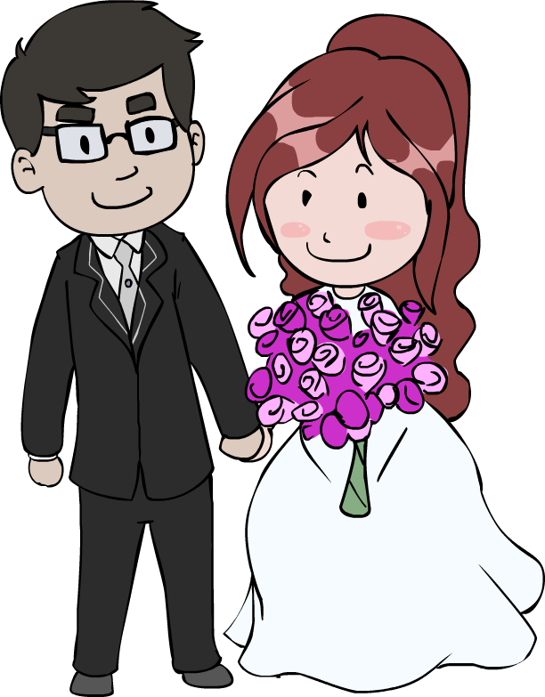 Marriage clipart married man. Wedding couple by robewan