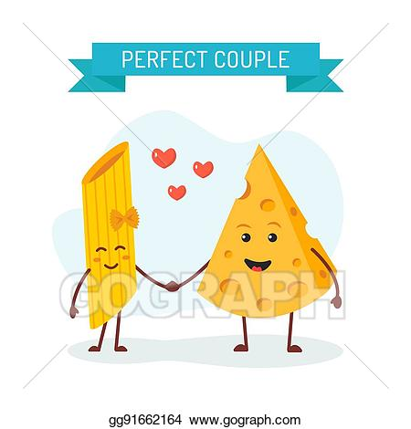 Couple clipart perfect couple. Eps illustration cheese and