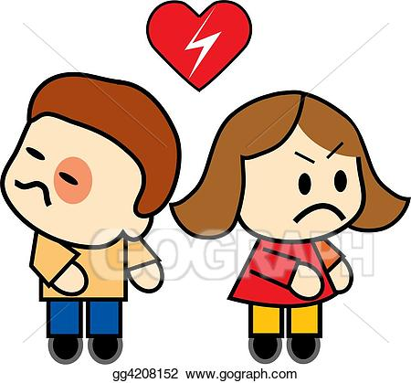 Couple clipart upset. Stock illustration angry illustrations