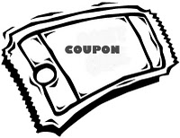 Coupon clipart. Discount