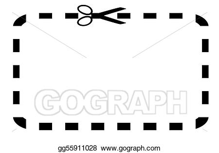 Drawing or voucher . Coupon clipart blank