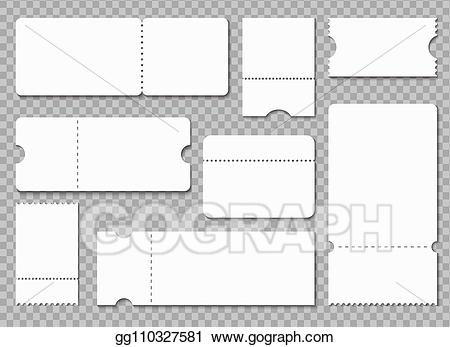 Vector stock template white. Raffle clipart theater ticket