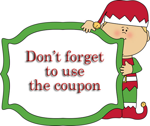 In july sales on. Coupon clipart christmas