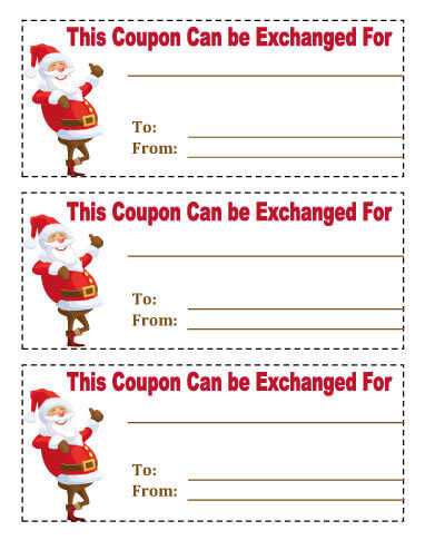 Coupon clipart christmas.  free printable coupons