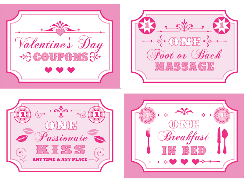 Free printable valentine s. Coupon clipart coupon book