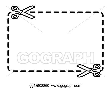 Stock illustration border drawing. Coupon clipart line