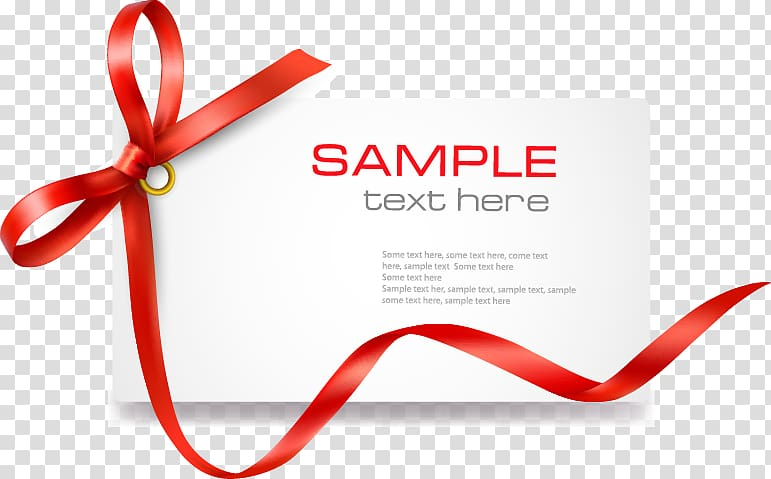 Red text here template. Coupon clipart sample