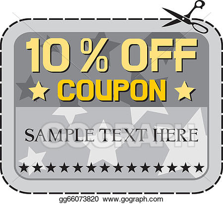 Coupon clipart sample. Vector art sale drawing