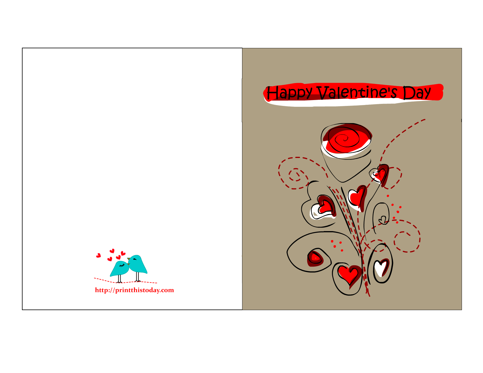 Coupon clipart valentines day. Valentine cards to print