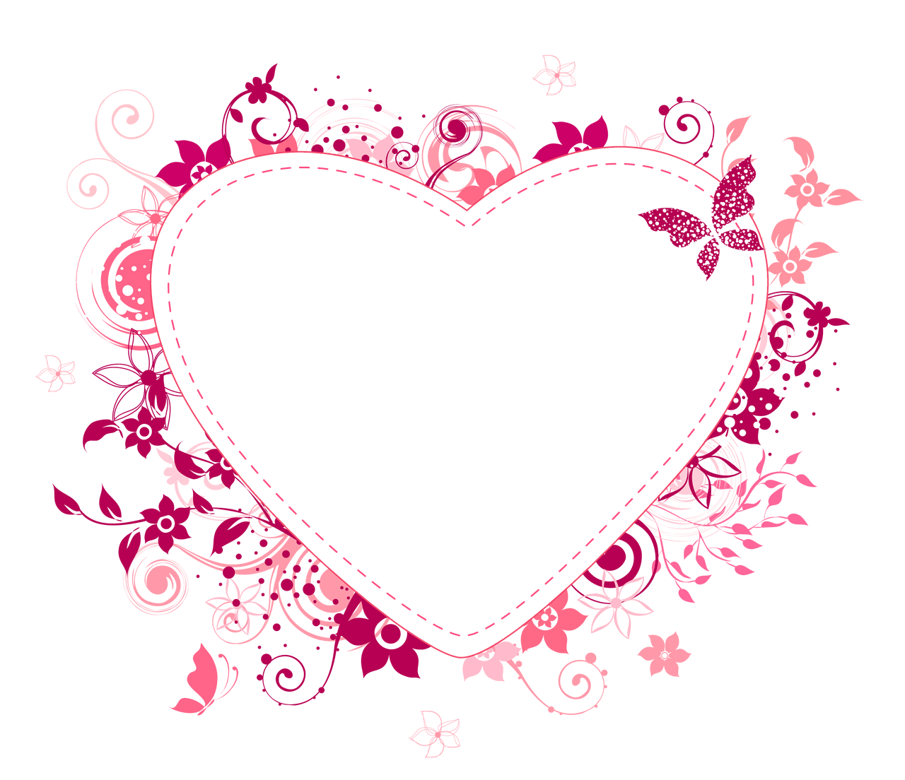 Cora o com flores. Heat clipart colorful heart