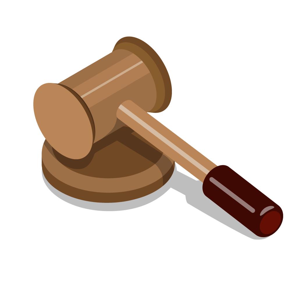 Judge gavel cartoon gray. Court clipart auction hammer
