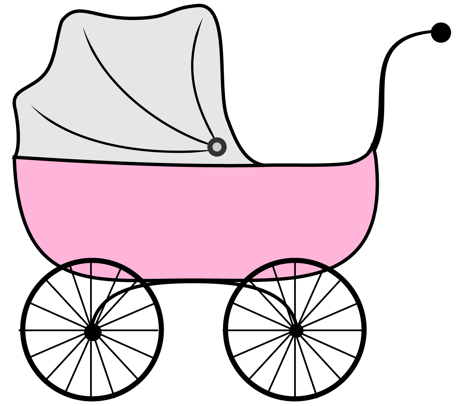 collection of pink. Carriage clipart buggy