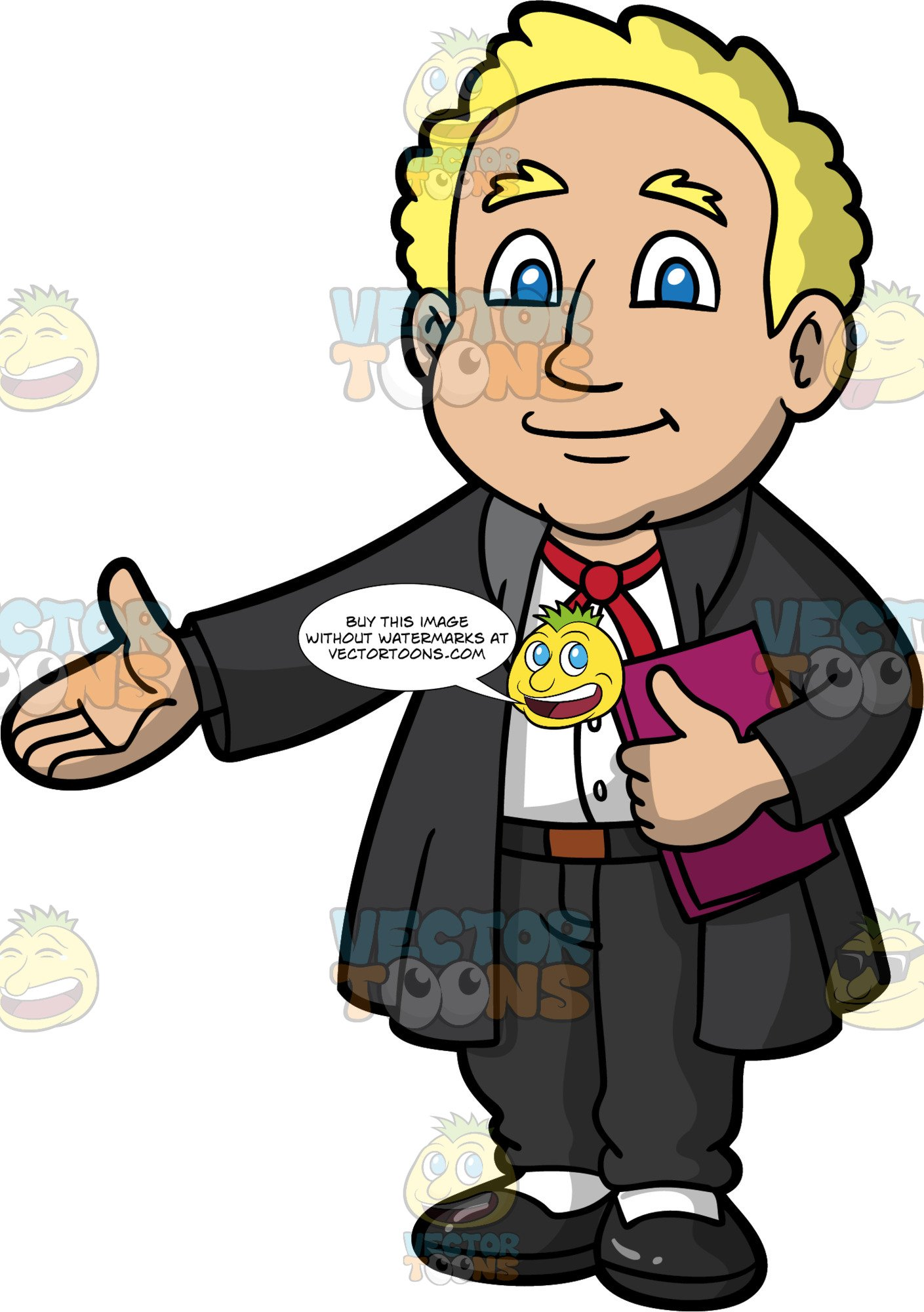 A male presenting in. Court clipart barrister
