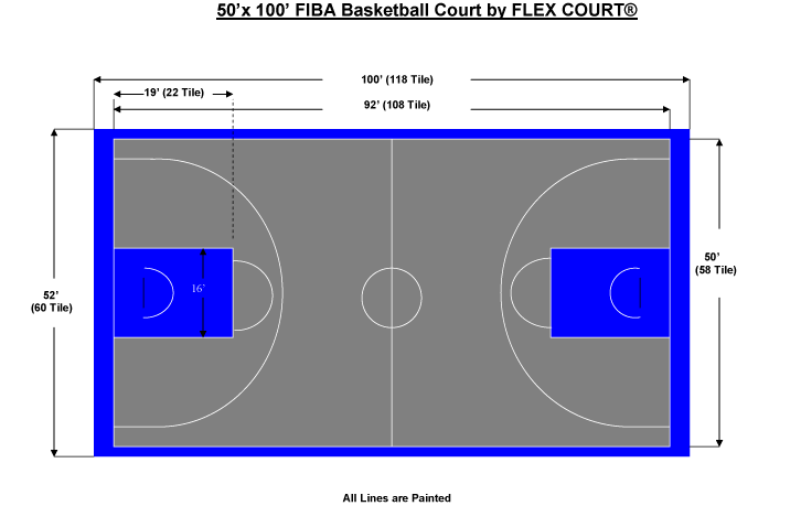 Download half size garden. Court clipart basketball court