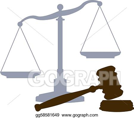 Vector stock scales gavel. Court clipart court system