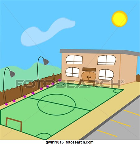 School portal . Court clipart covered court