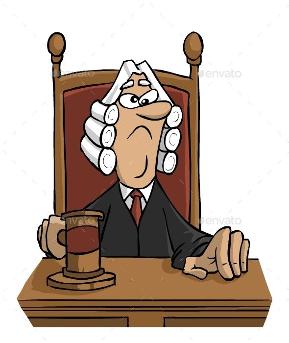 Judge clipart courtroom judge. Download free graphicriver cartoon