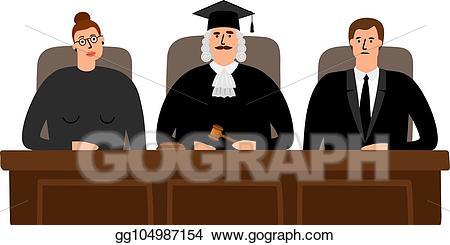 Clip art vector judges. Court clipart judical