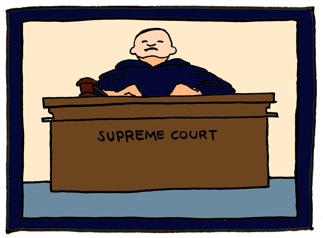 Court clipart judicial review. Supreme carries right to