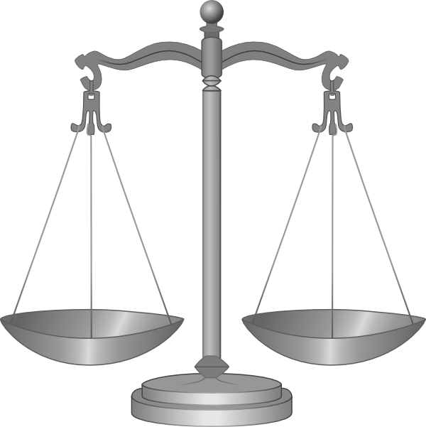 Settlement law justice clip. Lawyer clipart vector