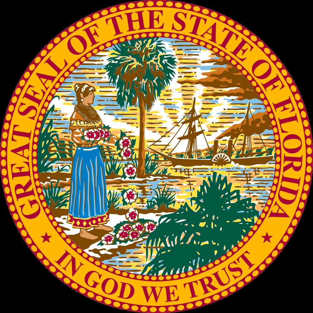 Court clipart legislative. Florida state usa flag
