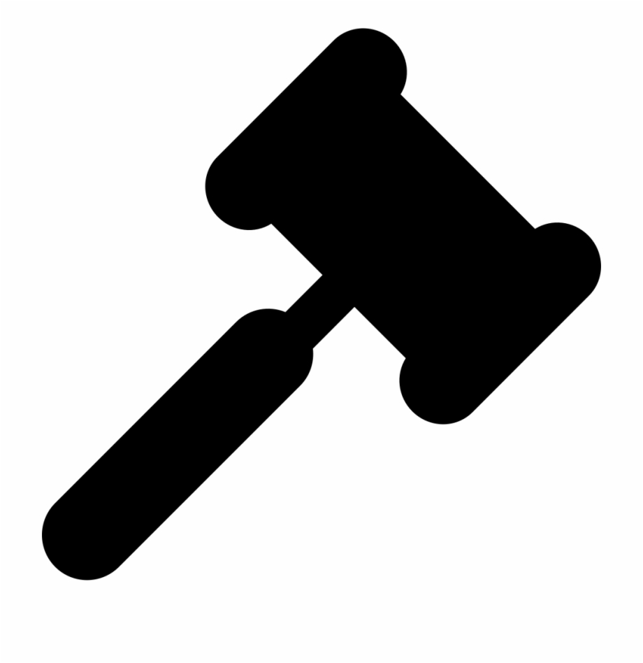 Gavel silhouette png transparent. Court clipart mallet