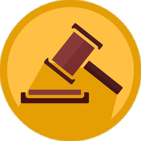 Federal court ruling on. Gavel clipart emoji