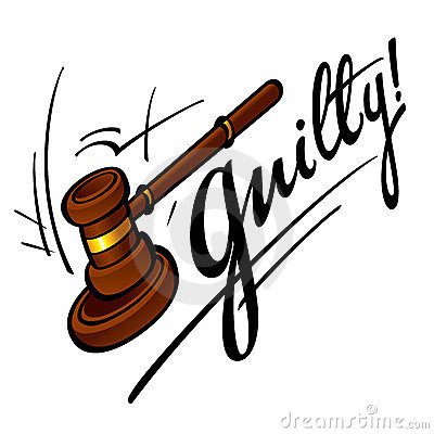 Guilty man in room. Court clipart prosecution