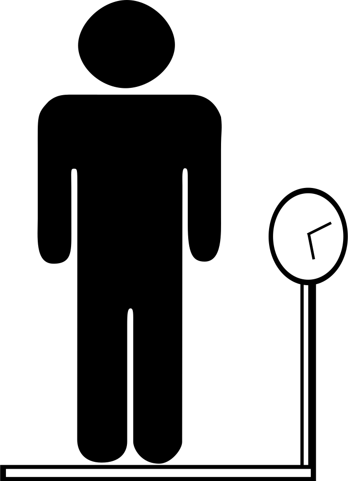 Humans clipart weighing machine. Male body weight svg