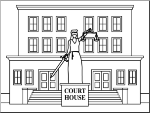 Courthouse clipart Courthouse