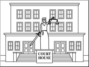 Courthouse clipart. Clip art buildings court
