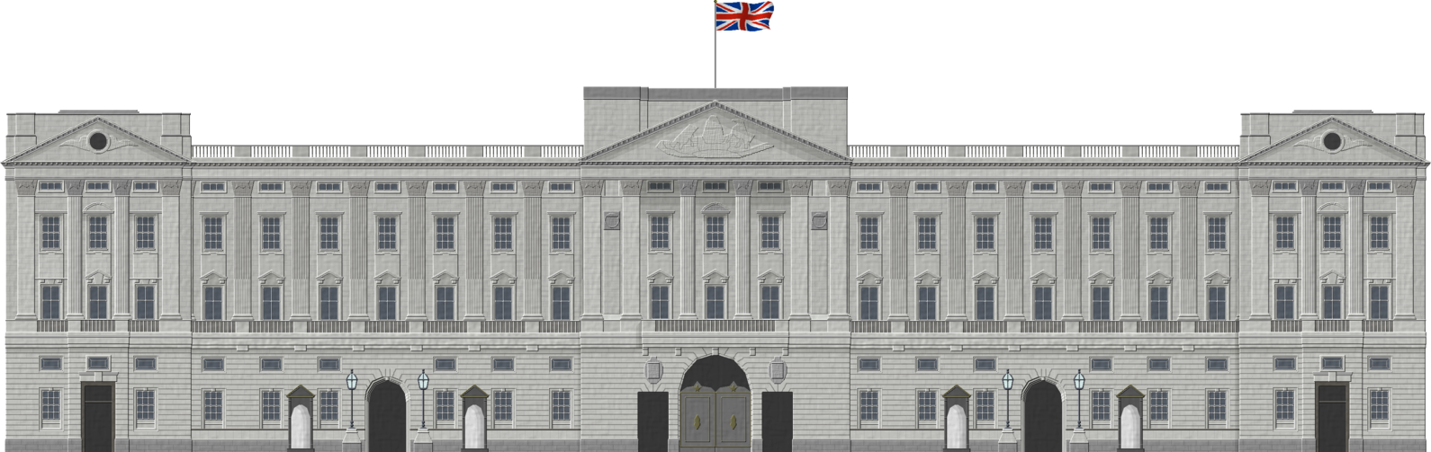 Palace clipart transparent. Buckingham by herbertrocha on