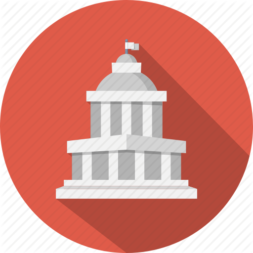 Courthouse clipart gov. Government icon free icons