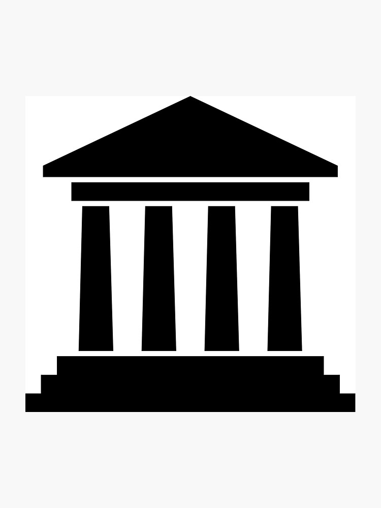 Photographic print . Courthouse clipart icon