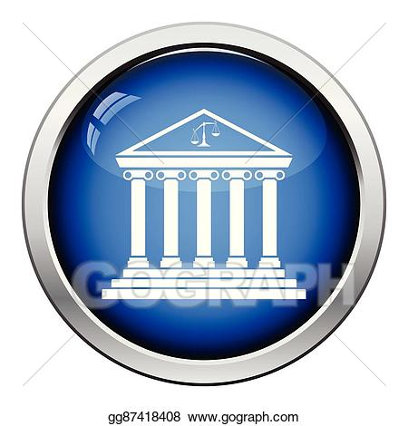 Courthouse clipart icon. Eps vector stock illustration