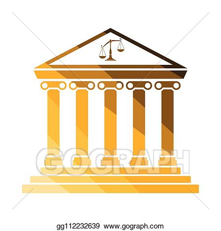 Eps vector stock illustration. Courthouse clipart icon
