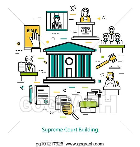 Courthouse clipart judge supreme court. Vector stock building round