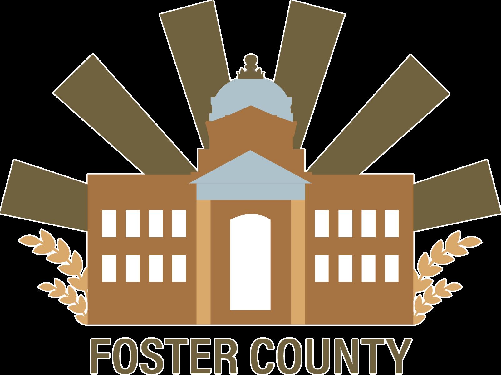 Foster county north dakota. Courthouse clipart municipality