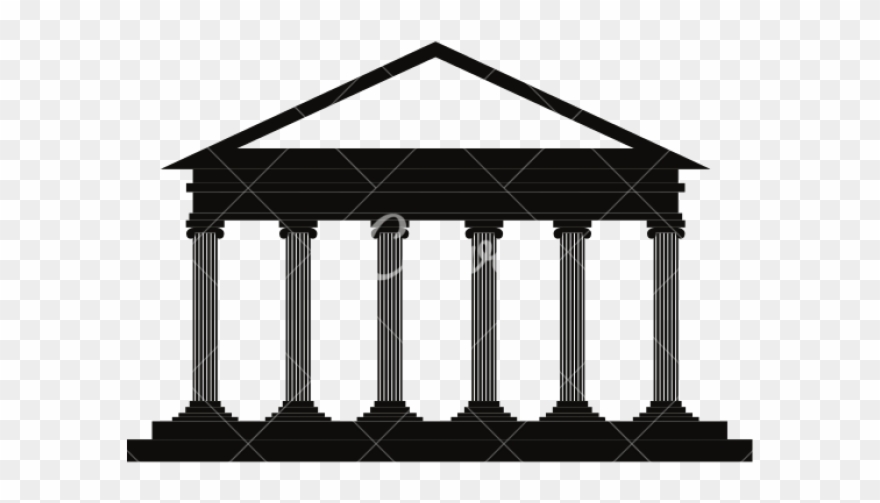 Greece courthouse silhouette png. Greek clipart simple building