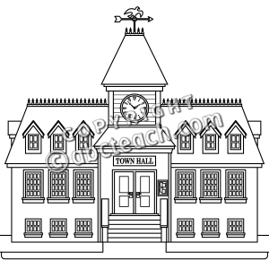 Courthouse clipart town hall building. City clip art free