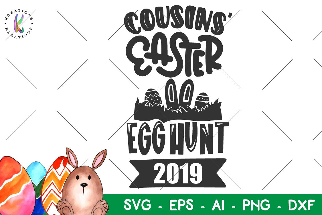 Easter svg egg hunt. Cousins clipart autumn