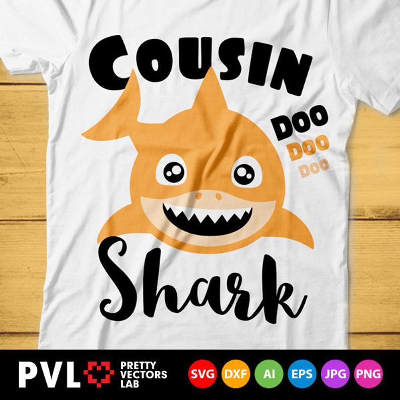 Cousins clipart autumn. Boy cousin shark svg